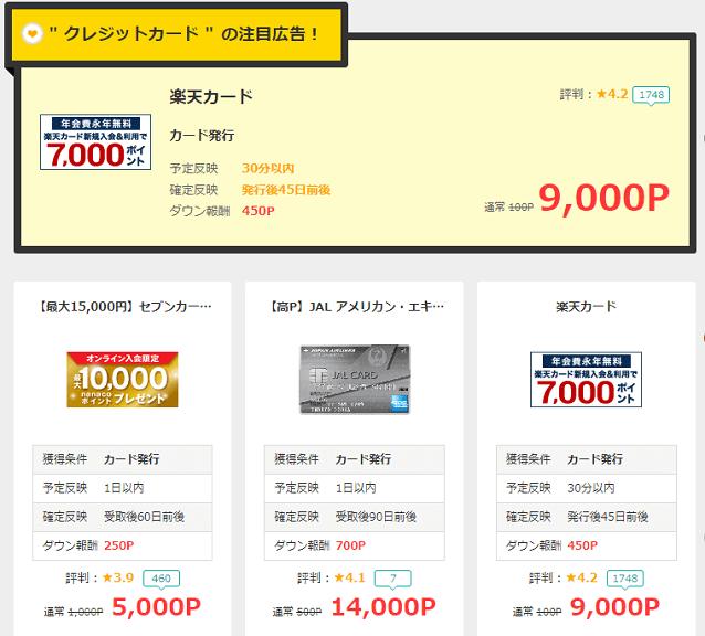モッピーのクレジットカード発行で10万円を稼ぐ方法